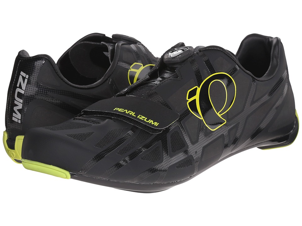 Pearl Izumi - Race RD IV (Black/Lime Punch) Men's Cycling Shoes