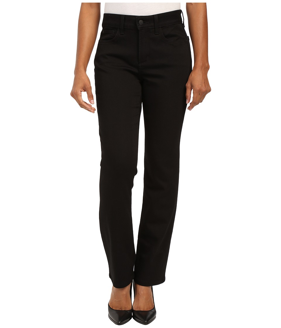 NYDJ Petite - Petite Marilyn Straight in Black (Black) Women's Jeans