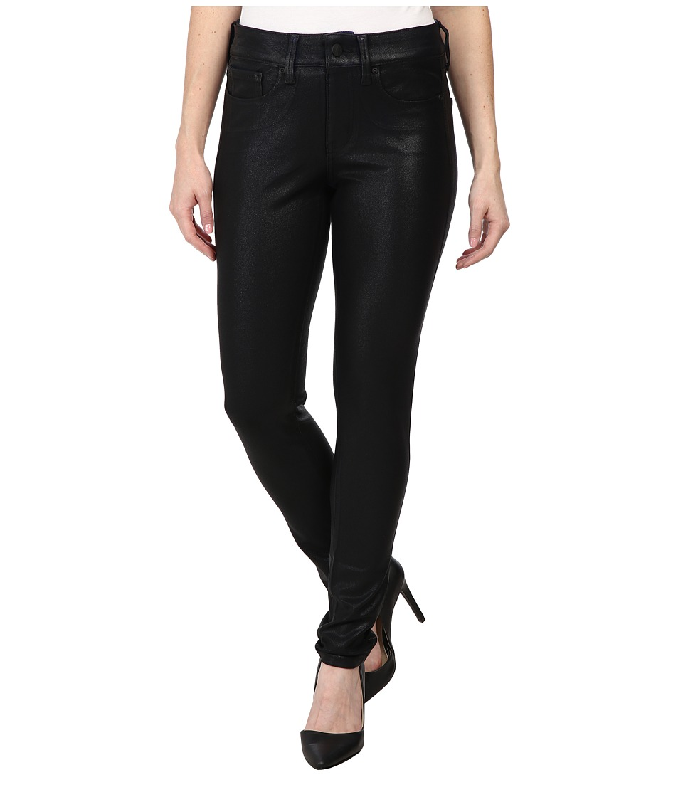 NYDJ Petite - Petite Joanie Skinny Leggings Pull-On (Black Coated) Women