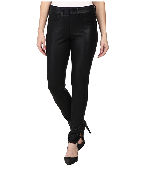 NYDJ Petite - Petite Joanie Skinny Leggings Pull-On (Black Coated) Women's Jeans