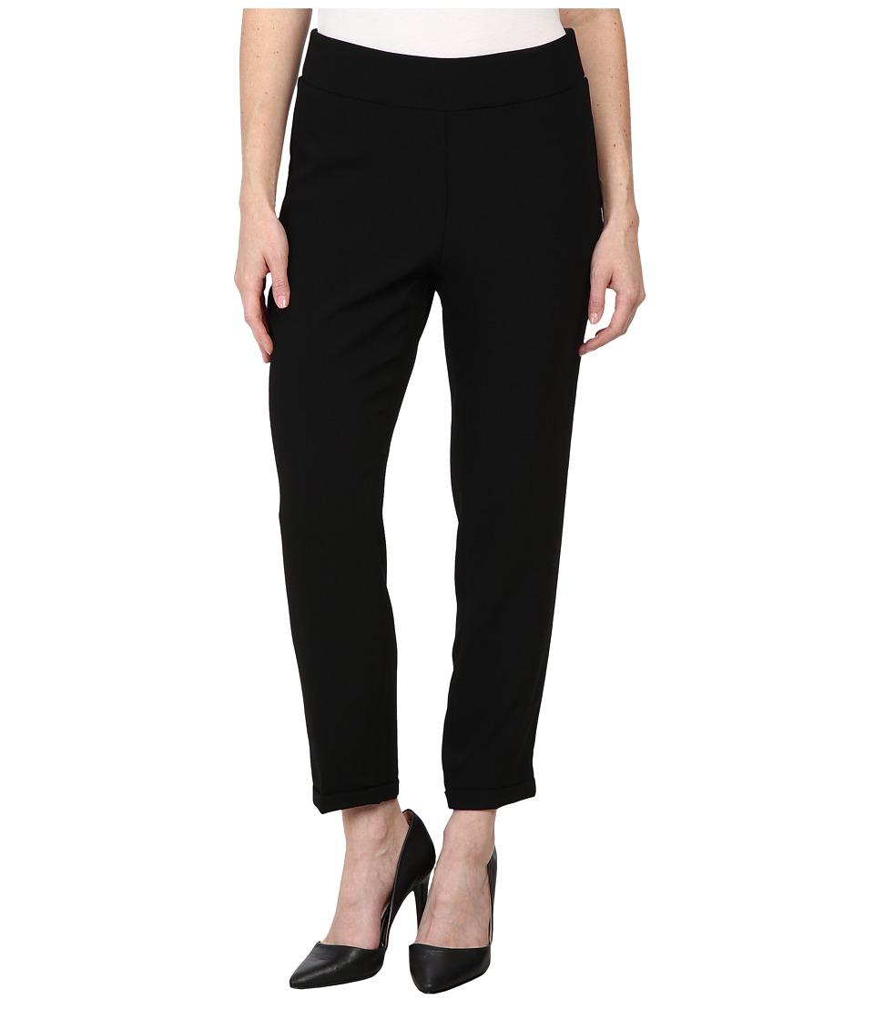 NYDJ Petite - Petite Nikola Ankle Crepe (Black) Women's Casual Pants