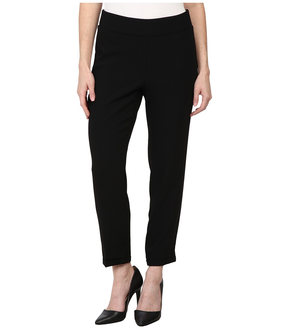 NYDJ Petite - Petite Nikola Ankle Crepe (Black) Women's Casual Pants plus size,  plus size fashion plus size appare