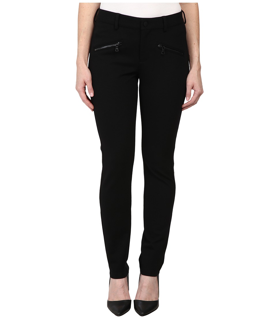 NYDJ Petite - Petite Zip Leggings in Black (Black) Women's Casual Pants