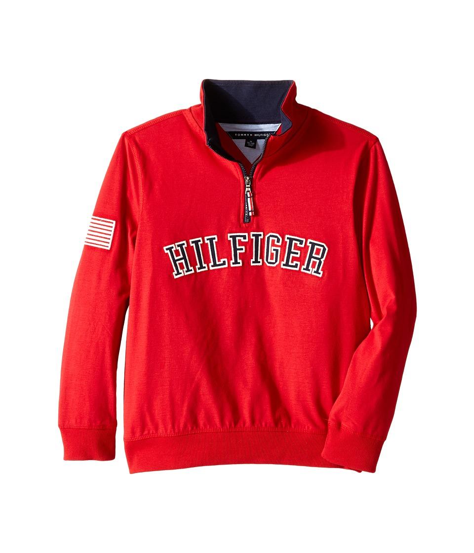 Tommy Hilfiger Kids - Half Zip Pullover Sweater (Big Kids) (Bulls Eye) Boy