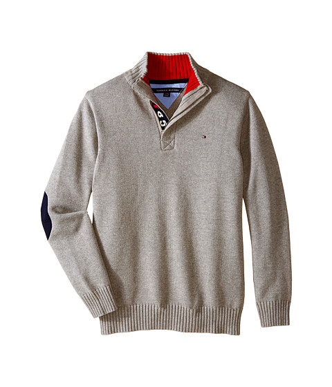 Tommy Hilfiger Kids - Long Sleeve Zac 1/2 Zip Solid Sweater (Big Kids) (Tommy Hilfiger Grey Heather) Boy's Sweater