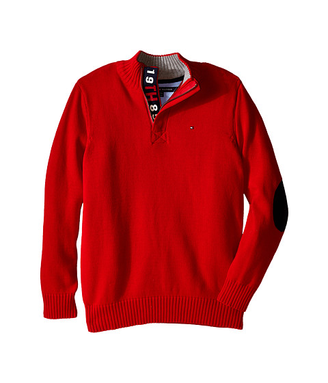 Tommy Hilfiger Kids - Long Sleeve Zac 1/2 Zip Solid Sweater (Big Kids) (Bulls Eye) Boy's Sweater