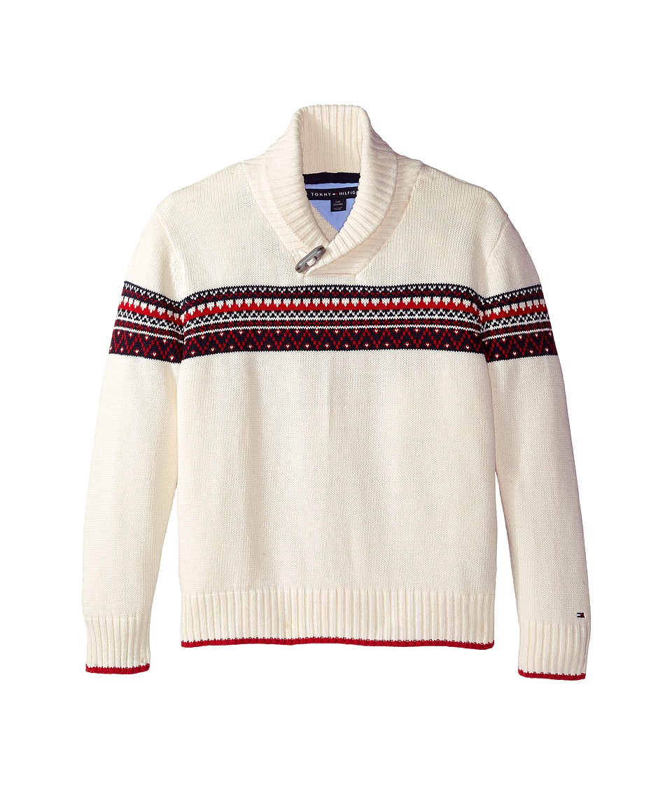 Tommy Hilfiger Kids - Long Sleeve Fair Isle Sweater (Big Kids) (Essx Ivory) Boy