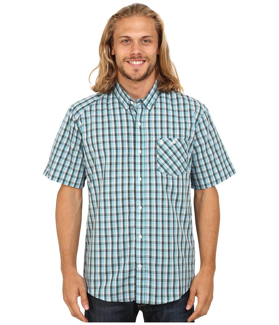 Volcom - Everett Minicheck Short Sleeve Top (Navy) Men