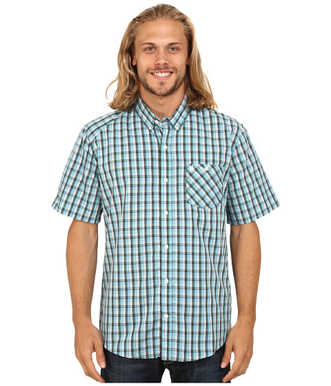 Volcom - Everett Minicheck Short Sleeve Top (Navy) Men