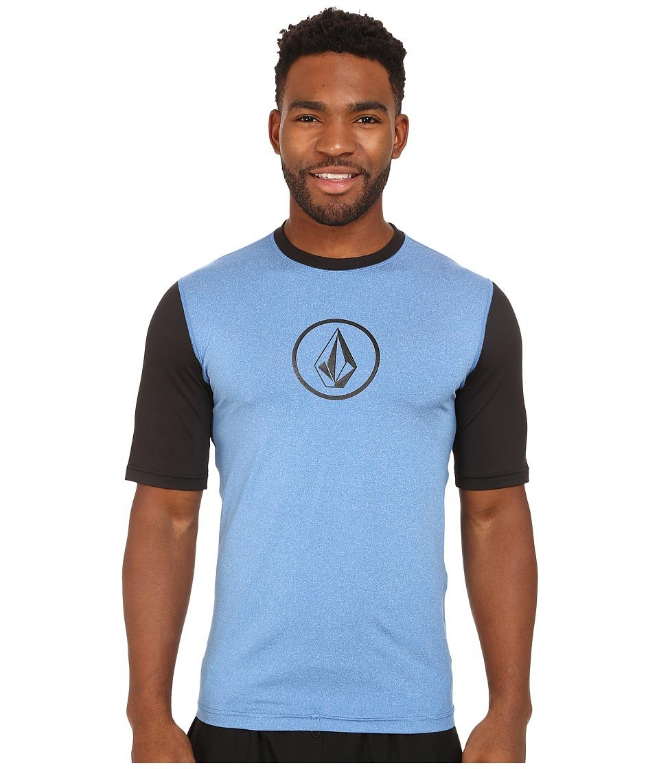 Volcom - Heather Short Sleeve Top (Baja Indigo) Men's Clothing