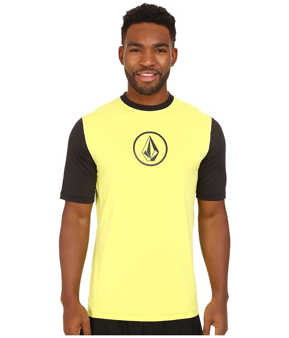Volcom - Heather Short Sleeve Top (Lime) Men's Clothing