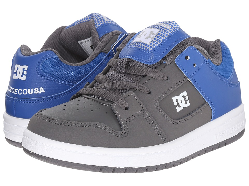 DC Kids - Manteca (Big Kid) (Grey Royal) Boys Shoes