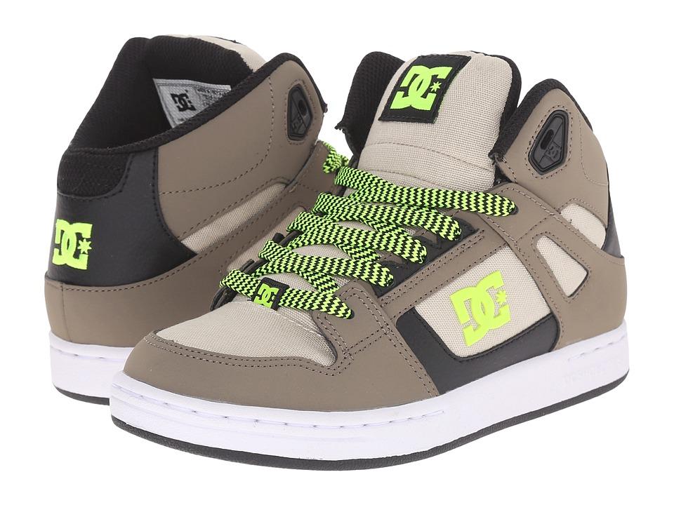 DC Kids - Rebound SE (Big Kid) (Taupe/Stone) Boys Shoes
