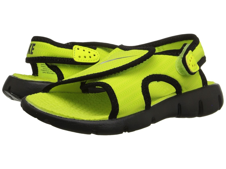Nike Kids - Sunray Adjust 4 (Little Kid/Big Kid) (Volt/Black) Boys Shoes