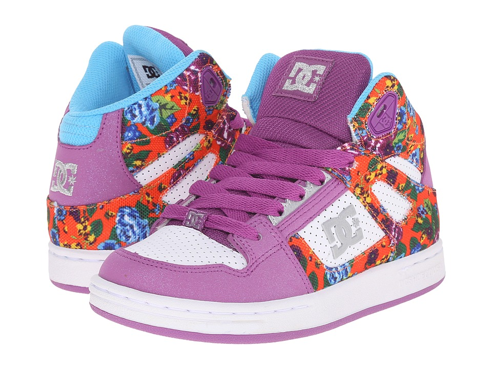 DC Kids - Rebound SE (Little Kid) (Purple Rain) Girls Shoes