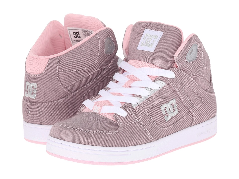 DC Kids - Rebound SE TX (Big Kid) (Pink/Metallic) Girls Shoes