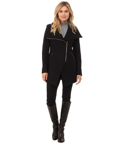 French Connection - Cutaway Coat (Black) Women's Coat