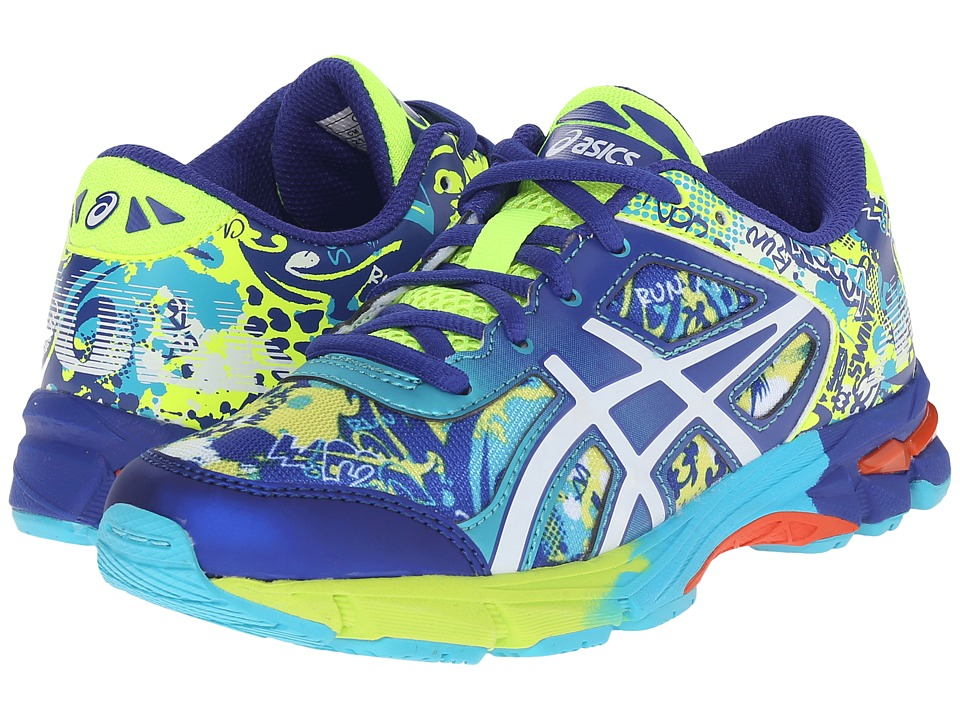 ASICS Kids Gel-Noosa Tri 11 GS (Little Kid/Big Kid) (Flash Yellow/White/Scuba Blue) Boys Shoes