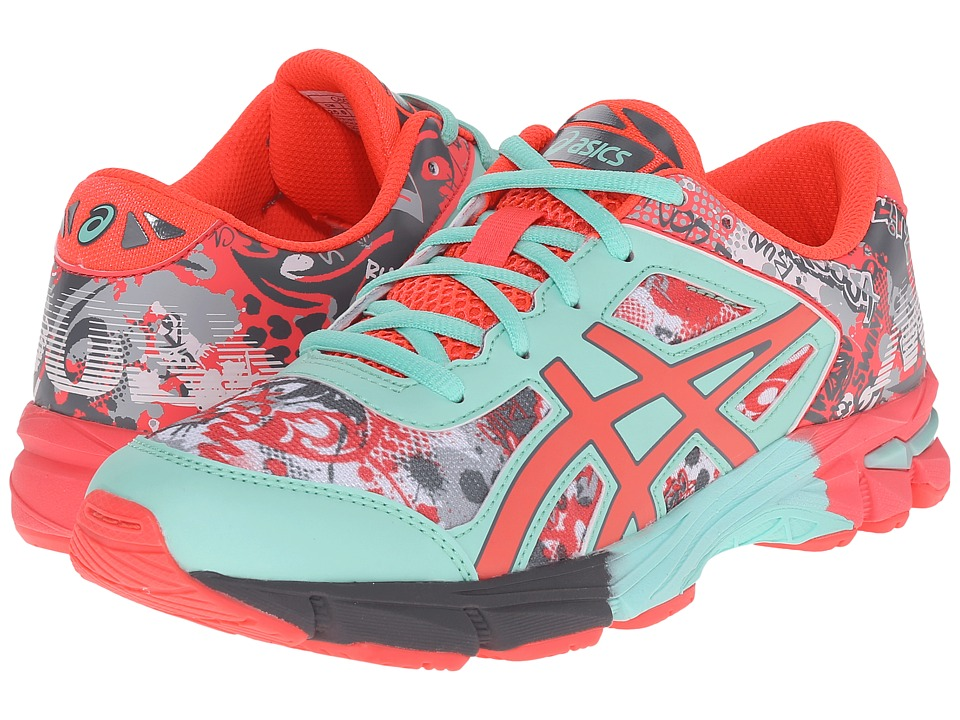 ASICS Kids - Gel-Noosa Tri 11 GS (Little Kid/Big Kid) (White/Diva Pink/Mint) Girls Shoes