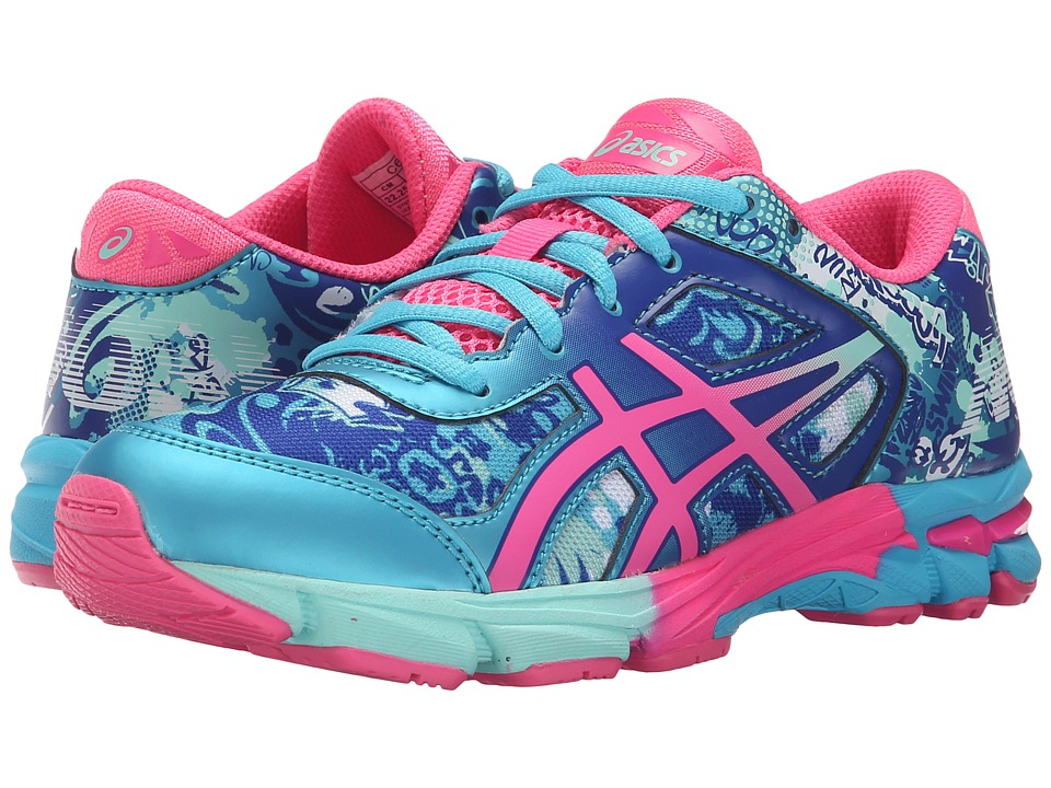 ASICS Kids - Gel-Noosa Tri 11 GS (Little Kid/Big Kid) (Turquoise/Hot Pink/ASICS Blue) Girls Shoes
