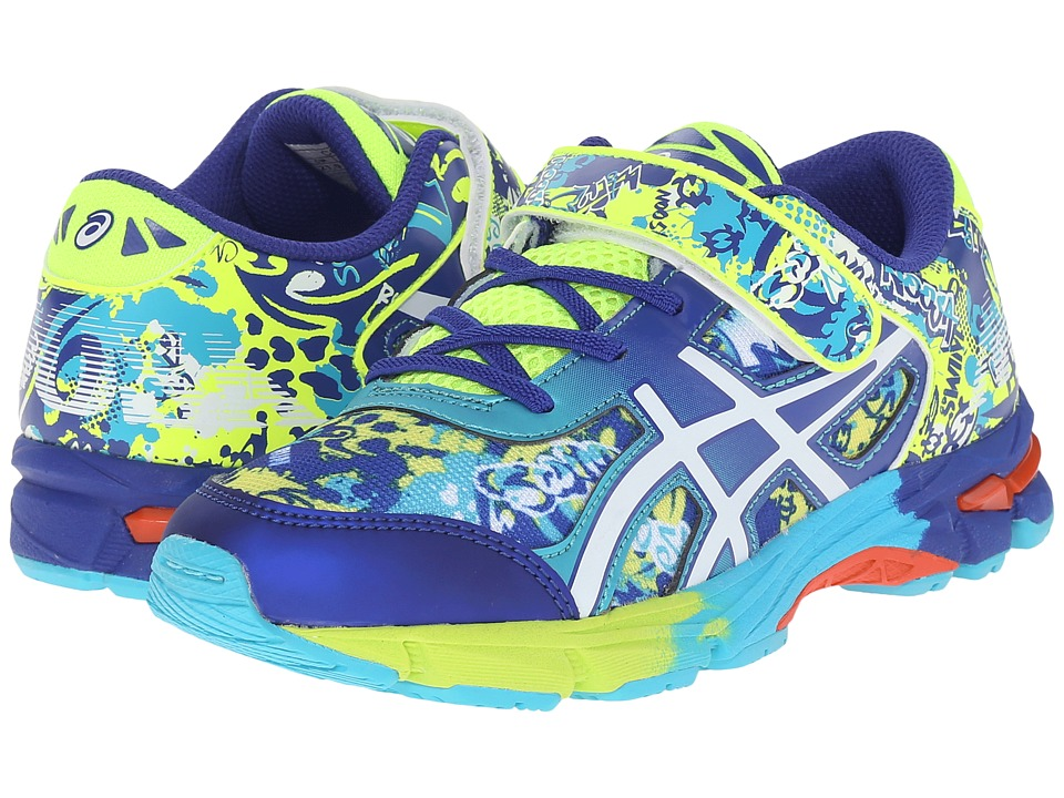 ASICS Kids - Gel-Noosa Tri 11 PS (Toddler/Little Kid) (Flash Yellow/White/Scuba Blue) Boys Shoes