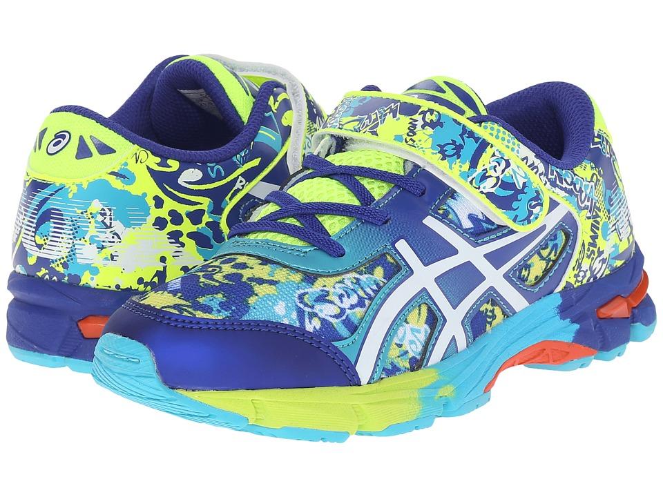 ASICS Kids - Gel-Noosa Tri 11 PS (Toddler/Little Kid) (Flash Yellow/White/Scuba Blue) Boys Shoes