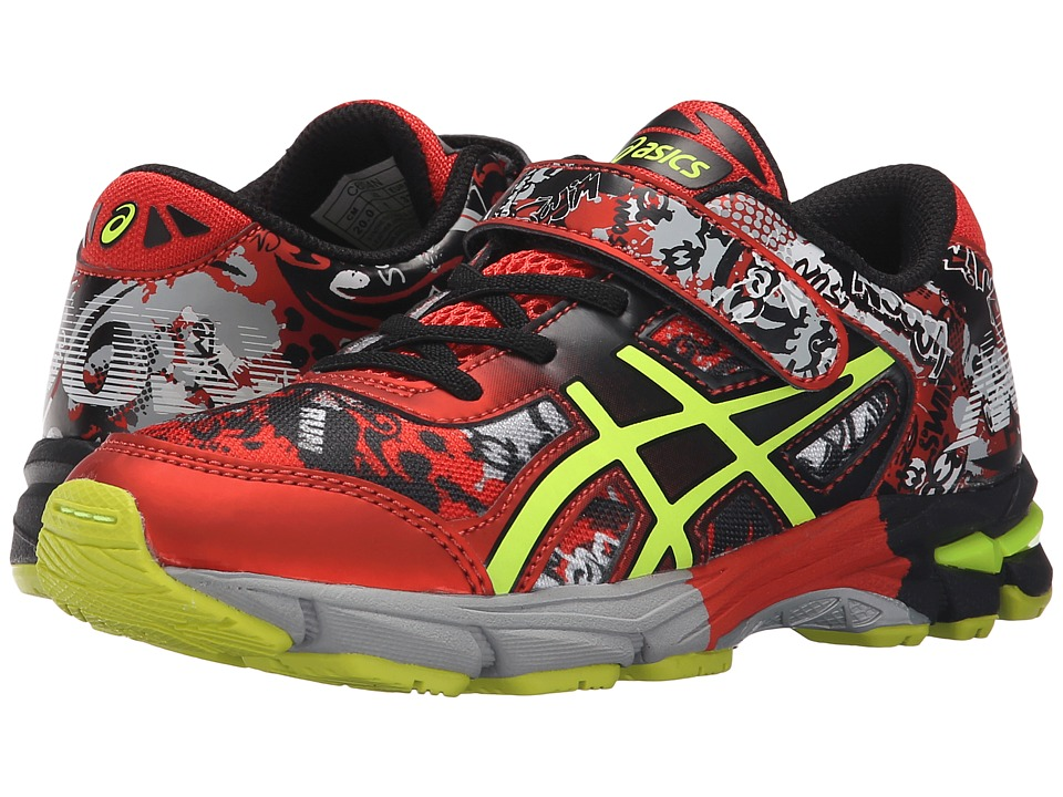 ASICS Kids - Gel-Noosa Tri 11 PS (Toddler/Little Kid) (Black/Flash Yellow/Orange) Boys Shoes