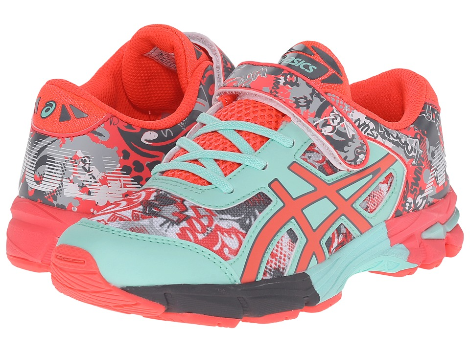 ASICS Kids - Gel-Noosa Tri 11 PS (Toddler/Little Kid) (White/Diva Pink/Mint) Girls Shoes