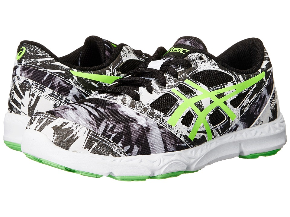 ASICS Kids - 33-DFA 2 GS (Little Kid/Big Kid) (White/Green Gecko/Black) Boys Shoes