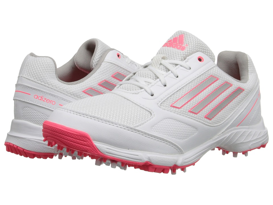 adidas Golf - jr adizero sport (Little Kid/Big Kid) (Running White/Silver Metallic/Flash Red) Golf Shoes