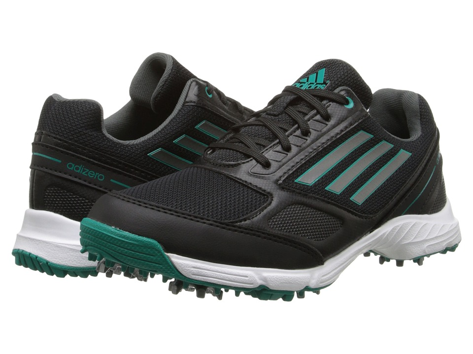 adidas Golf - jr adizero sport (Little Kid/Big Kid) (Core Black/Running White/Power Green) Golf Shoes