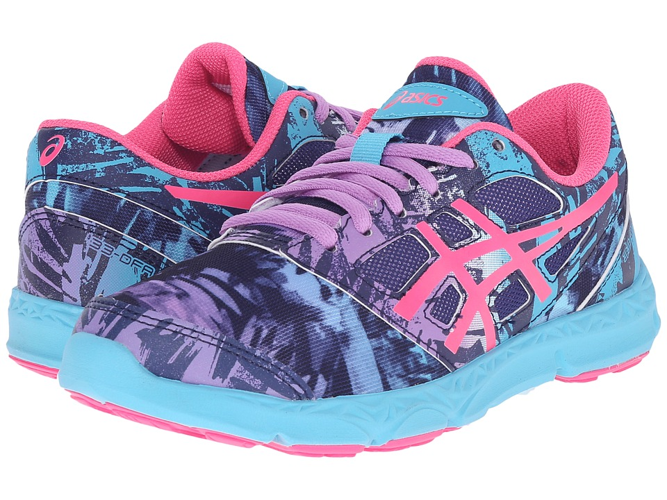ASICS Kids 33-DFA 2 GS (Little Kid/Big Kid) (Midnight/Hot Pink/Turquoise) Girls Shoes
