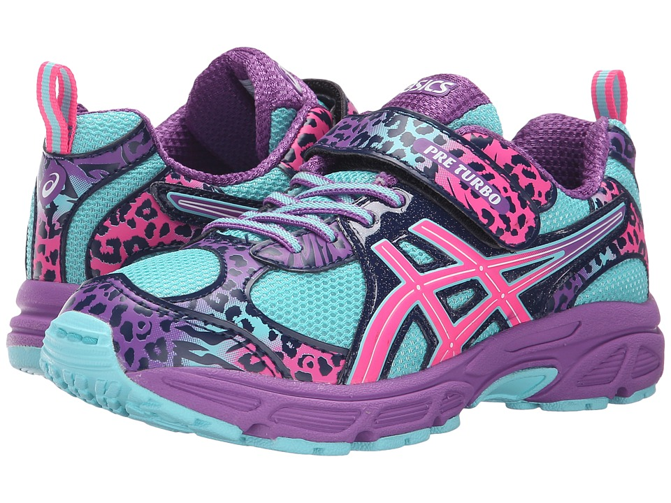 ASICS Kids - Pre-Turbo PS (Toddler/Little Kid) (Turquoise/Hot Pink/Orchid) Girls Shoes