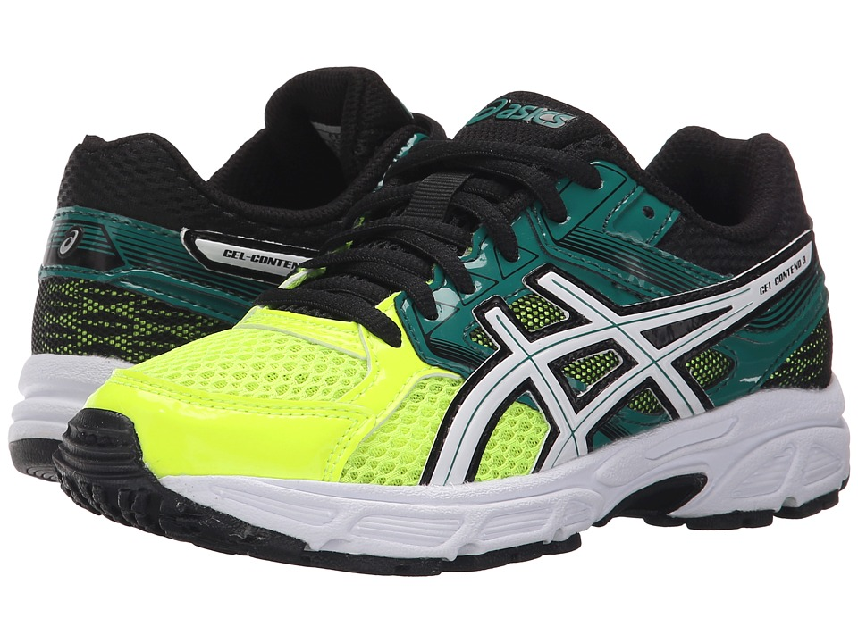 ASICS Kids - Gel-Contend 3 GS (Little Kid/Big Kid) (Flash Yellow/White/Green) Boys Shoes