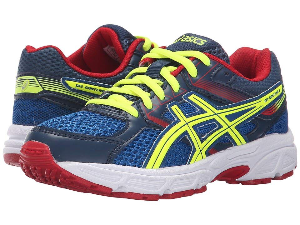 ASICS Kids - Gel-Contend 3 GS (Little Kid/Big Kid) (Royal/Flash Yellow/Red) Boys Shoes