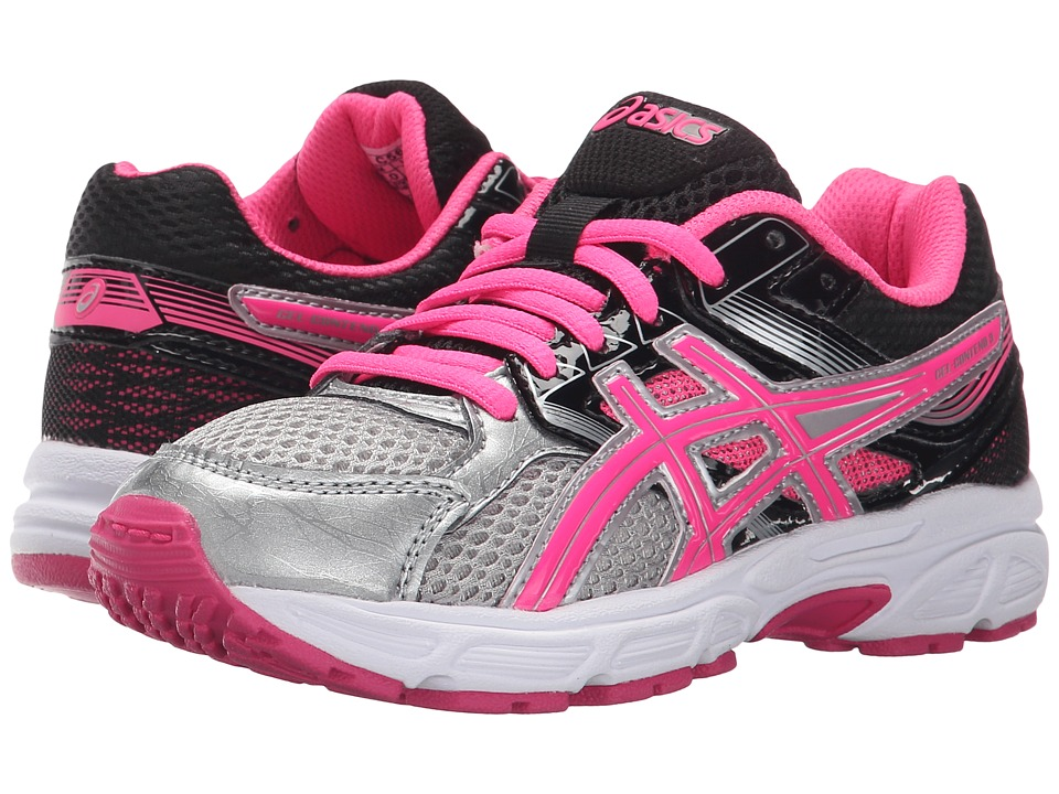 ASICS Kids - Gel-Contend 3 GS (Little Kid/Big Kid) (Silver/Hot Pink/Black) Girls Shoes