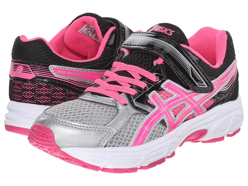 ASICS Kids - Pre-Contend 3 PS (Toddler/Little Kid) (Silver/Hot Pink/Black) Girls Shoes