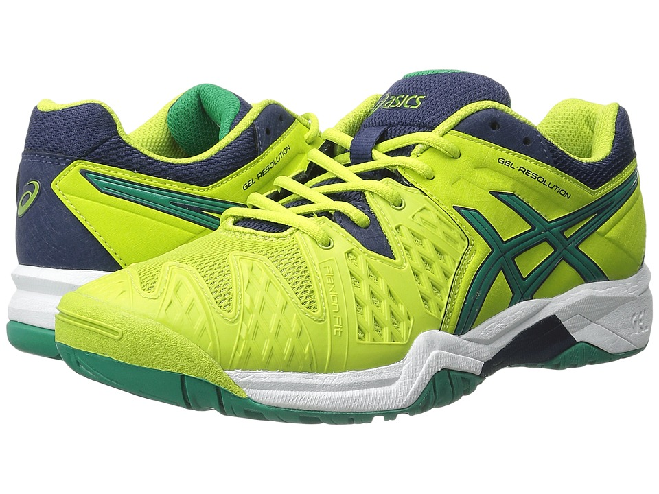 ASICS Kids Gel-Resolution 6 GS (Little Kid/Big Kid) (Lime/Pine/Indigo Blue) Boys Shoes