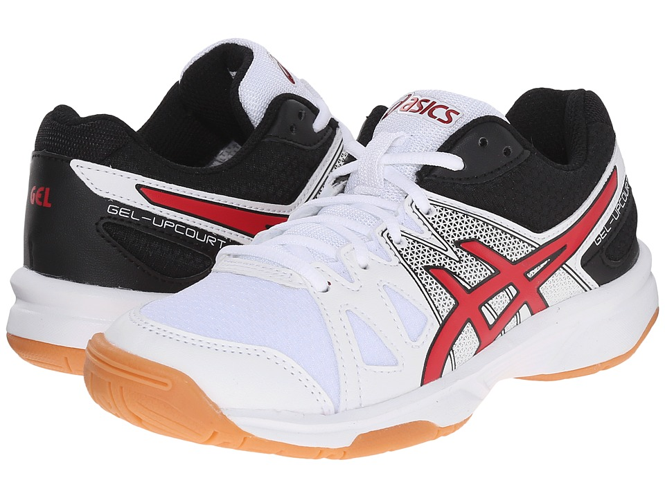 ASICS Kids - Gel-Upcourt GS Volleyball (Little Kid/Big Kid) (White/Racing Red/Black) Boys Shoes