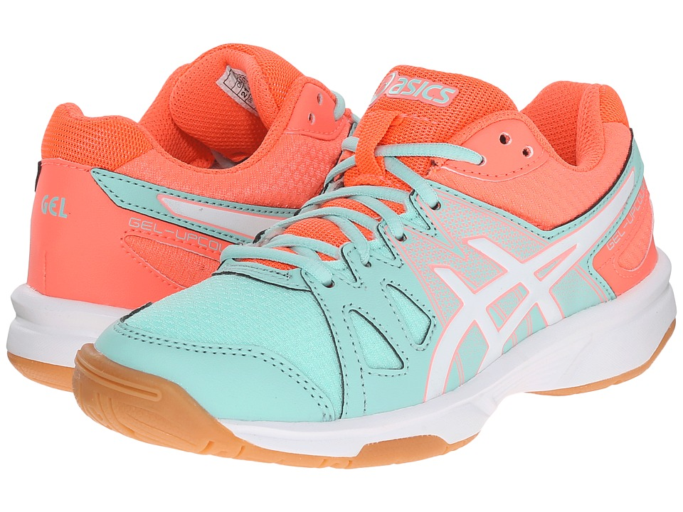 ASICS Kids - Gel-Upcourt GS Volleyball (Little Kid/Big Kid) (Mint/White/Fiery Coral) Girls Shoes