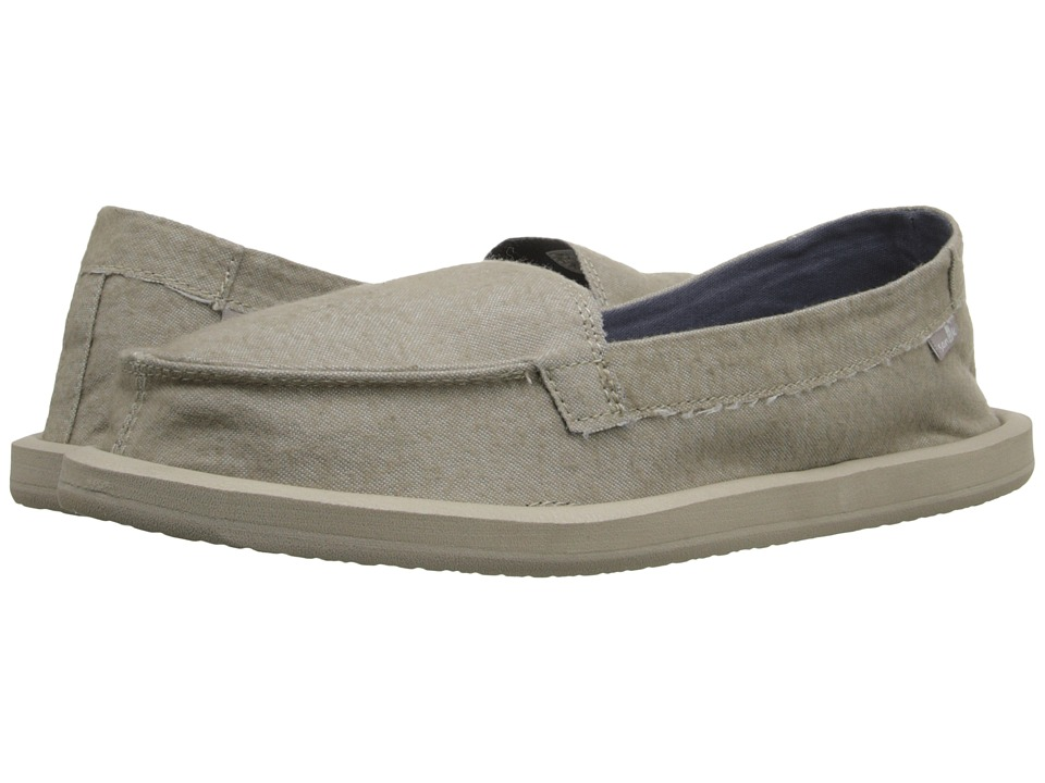 Sanuk - Shorty TX (Natural Chambray) Women's Flat Shoes