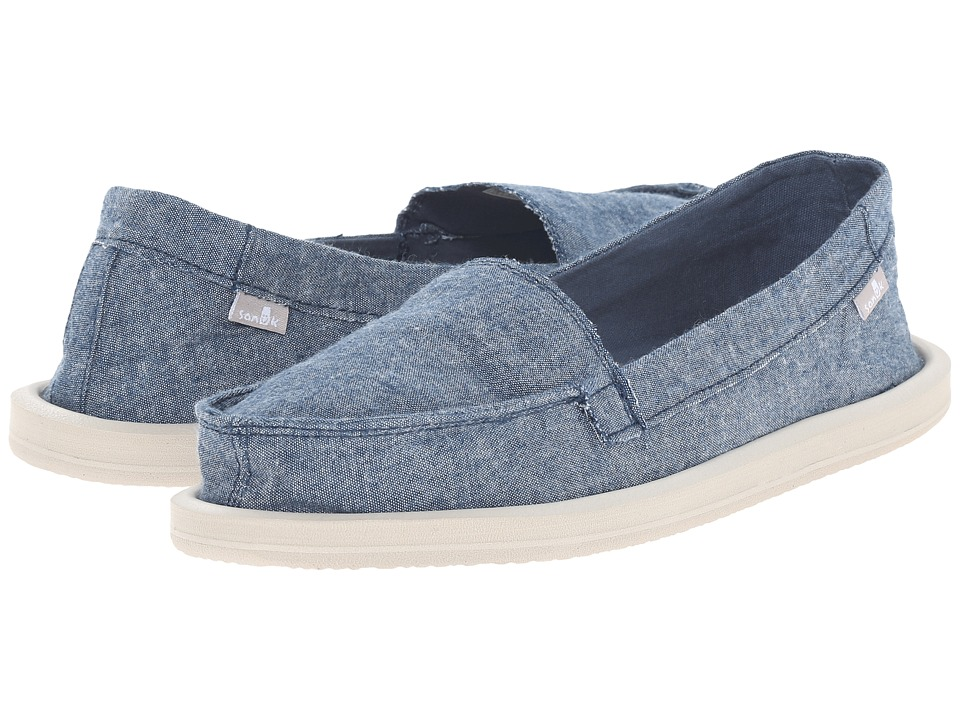 Sanuk - Shorty TX (Slate Blue Chambray) Women's Flat Shoes