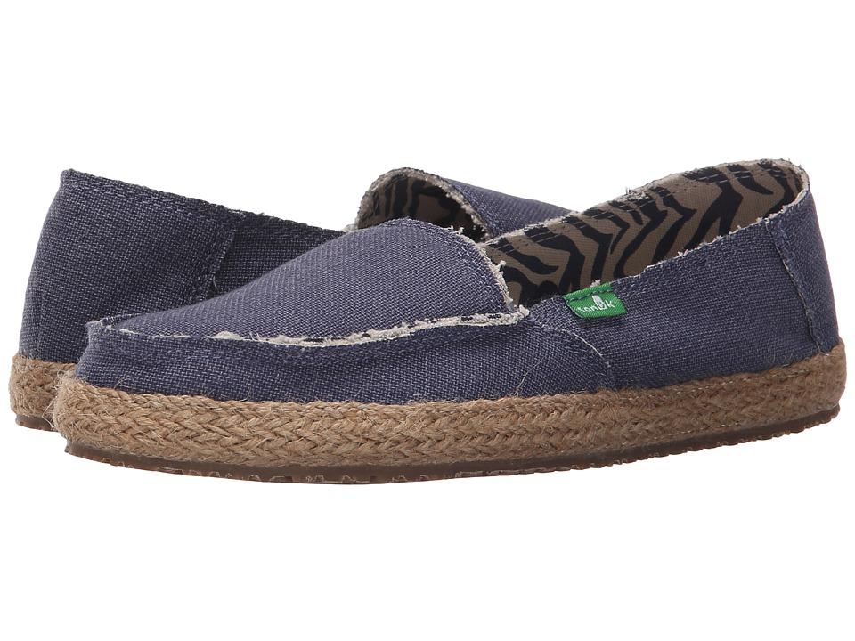 Sanuk - Fiona (Slate Blue) Women's Slip on Shoes