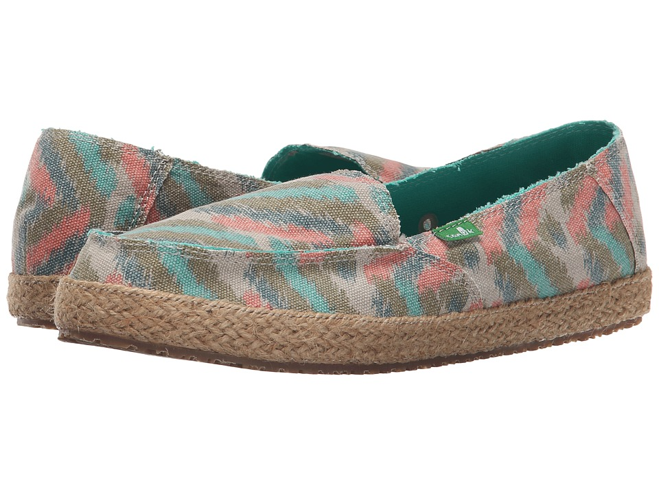 Sanuk - Funky Fiona (Natural Zig Zag) Women's Slip on Shoes