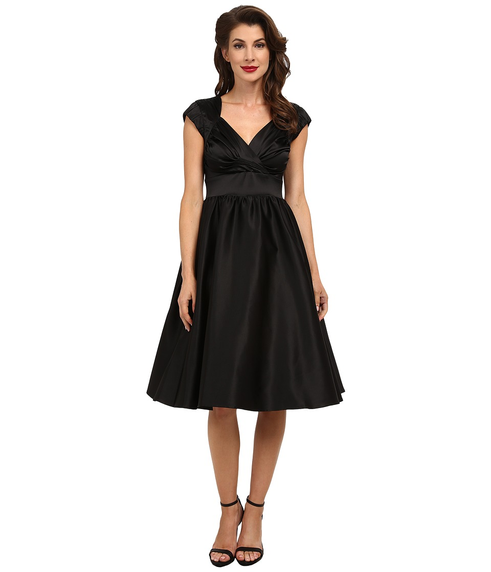 Stop Staring! - Graciela Swing Dress (Black Satin) Women's Dress