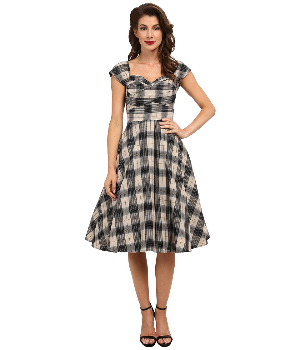 Stop Staring! - Mad Style Swing Dress (Black Plaid) Women's Dress