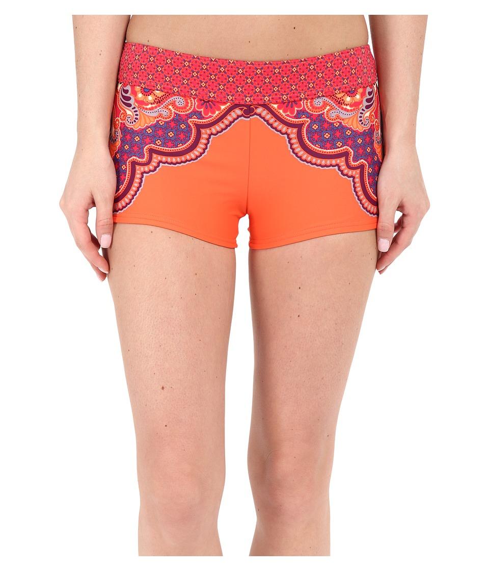 Prana - Raya Bottom (Neon Orange Jasmine) Women's Swimwear