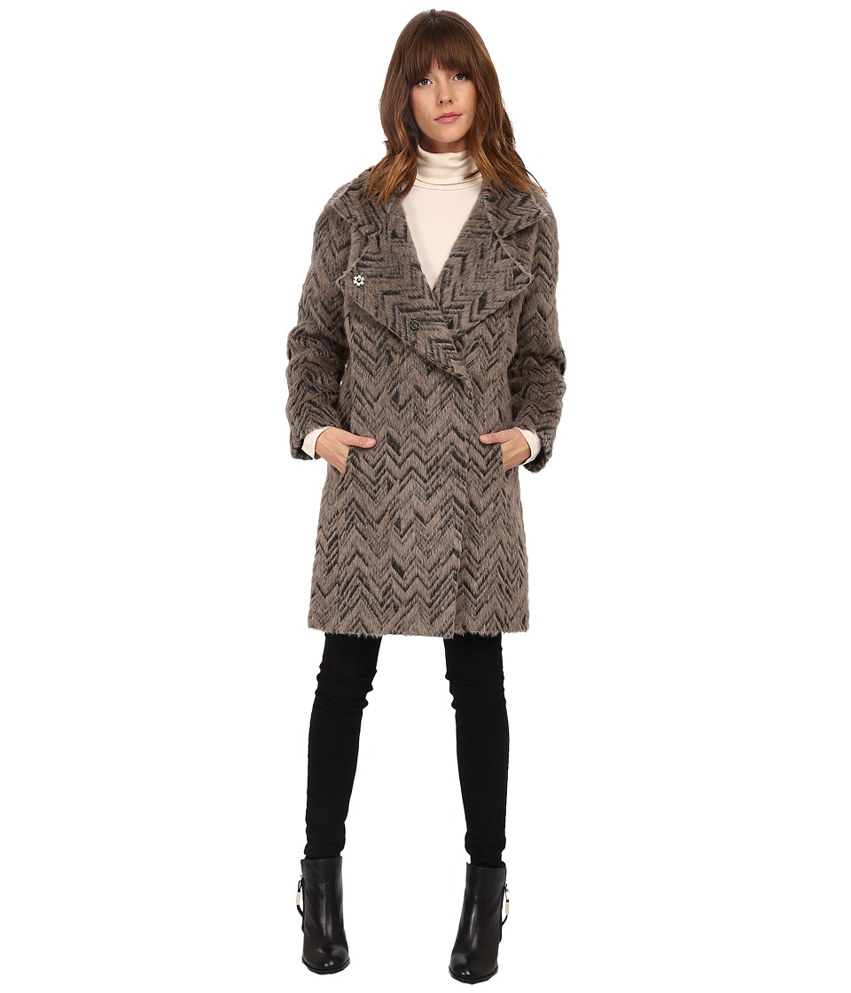 Trina Turk - Madison (Taupe Chevron) Women's Coat