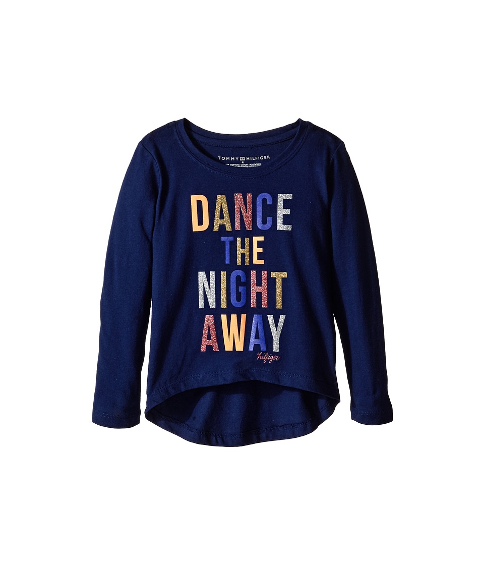 Tommy Hilfiger Kids - Dance The Night Away Long Sleeve Tee (Little Kids) (Flag Blue) Girl's T Shirt