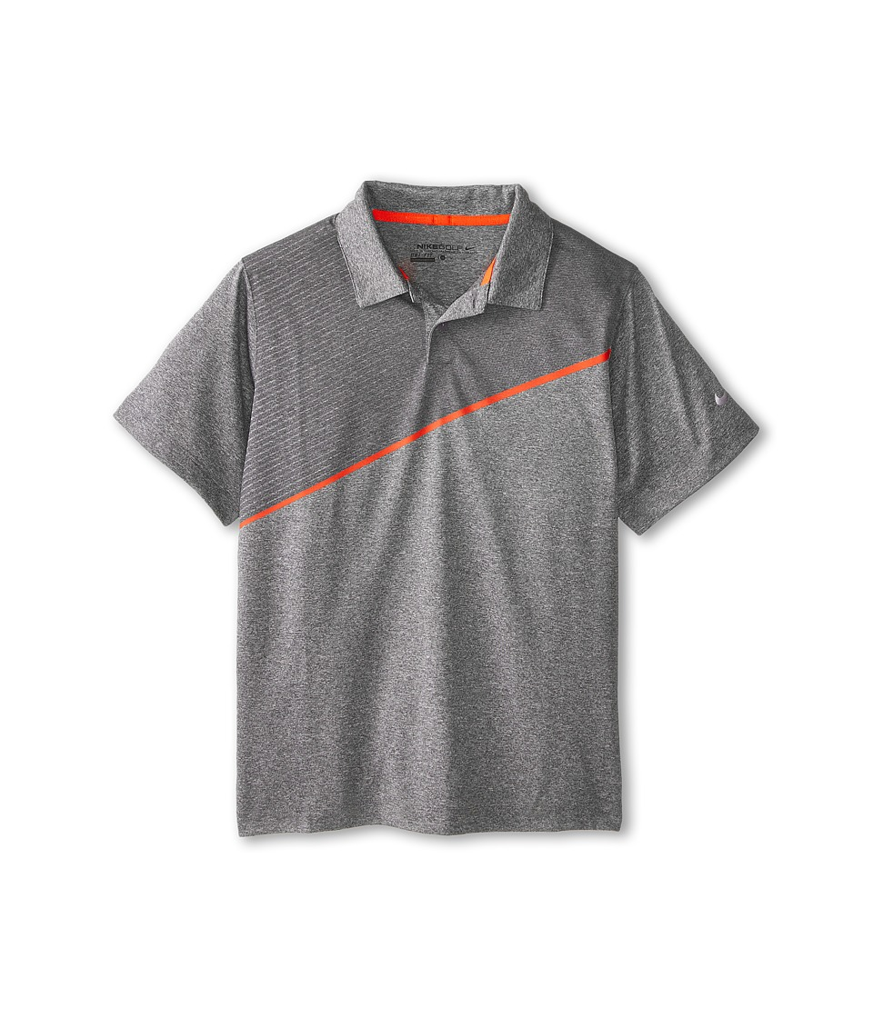 Nike Kids - Momentum 26 Polo (Little Kids/Big Kids) (Dark Grey/Heather/Electro Orange/Wolf Grey) Boy